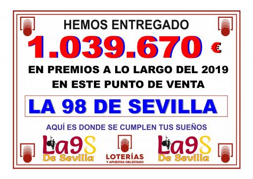 PREMIOS A LO LARGO DE 2019