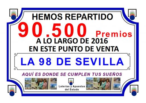 PREMIOS REPARTIDOS A LO LARGO DEL 2016 TOTAL DE PREMIOS   001
