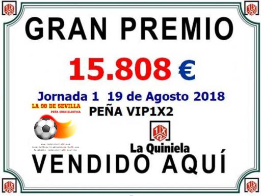 PEÑA VIP1X2 JORNADA 1 CARTEL DE PREMIOS  001