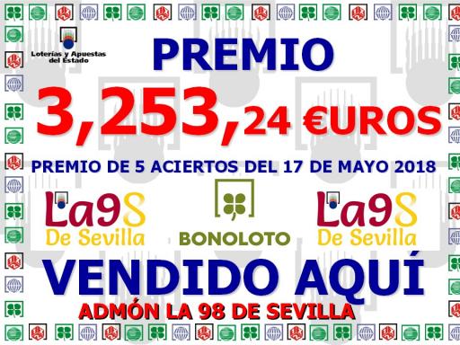 GRAN PREMIO BONOLOTO 17 DE MAYO DE 2018 3253^J24€
