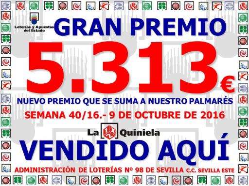 QUINIELA DEL 9 10 16 5 313